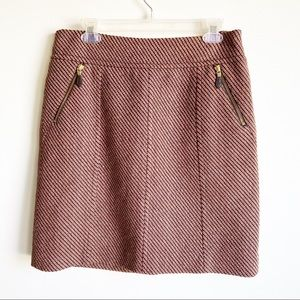 Ann Taylor Front Zip A line Tweed Skirt